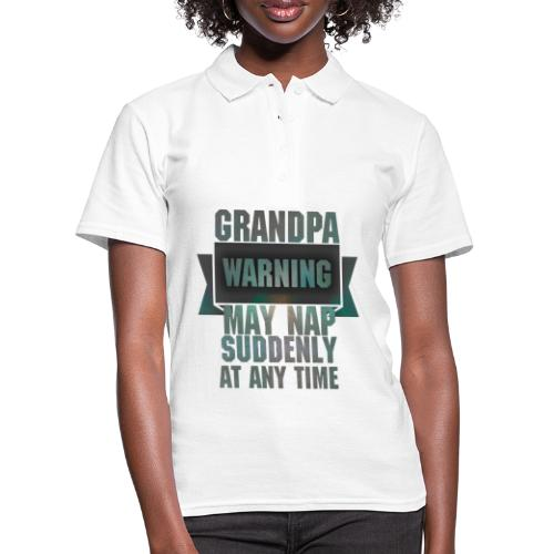 Grandpa warning may nap suddenly at any time Funny - Polo Femme
