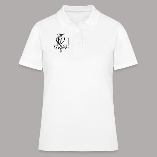 Zirkel, schwarz (vorne) - Frauen Polo Shirt