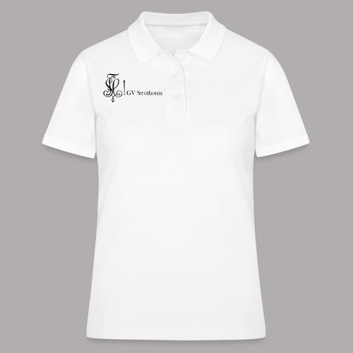 Zirkel mit Name, schwarz (vorne) - Frauen Polo Shirt