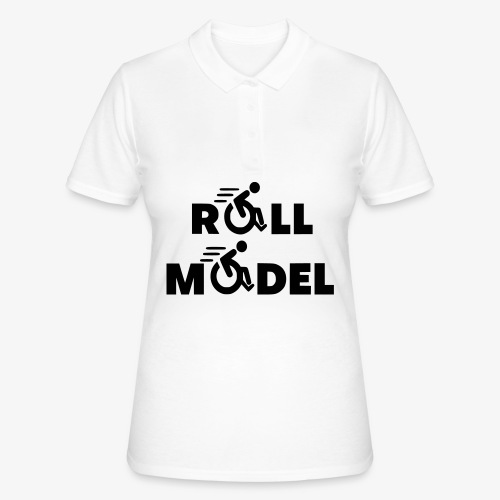 Elke rolstoel gebruiker is een roll model - Women's Polo Shirt