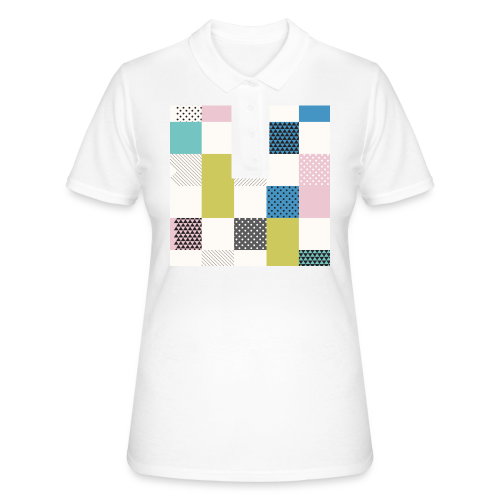 Abstract art squares - Women's Polo Shirt