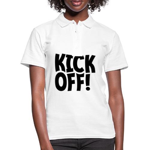 Slogan Kick off. Aftrap of meeting concept. - Vrouwen poloshirt