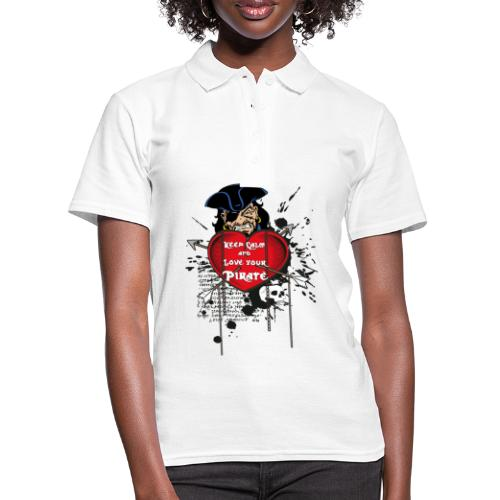 love your pirate - Women's Polo Shirt