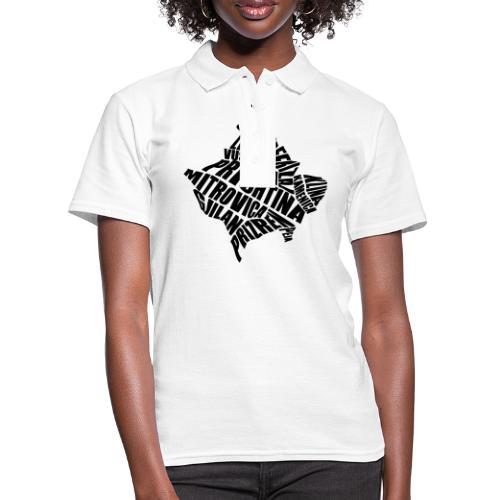 Kosovo Land mit allen Städten - Frauen Polo Shirt