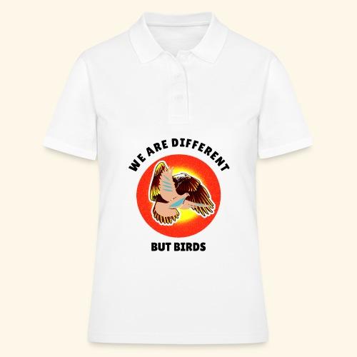 Vogel, Adler, Taube ungleich, aber können fliegen - Frauen Polo Shirt