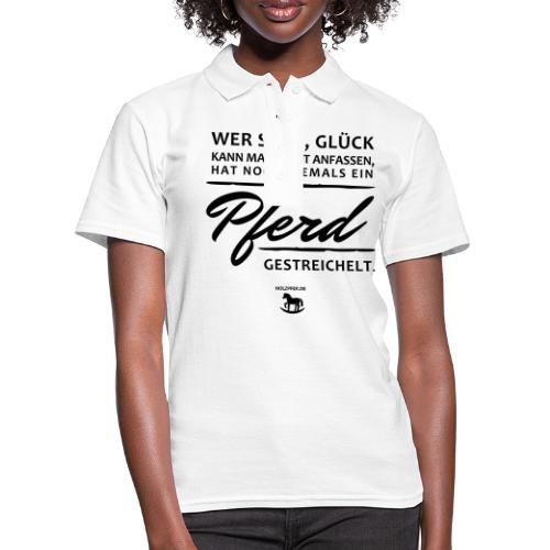 Pferd - Glück - Frauen Polo Shirt