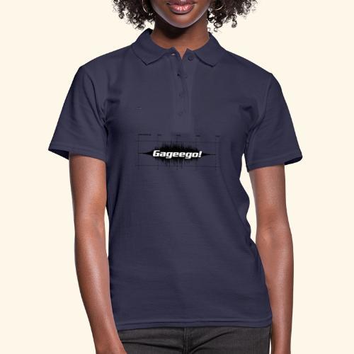 Gageego logga vit text - Women's Polo Shirt