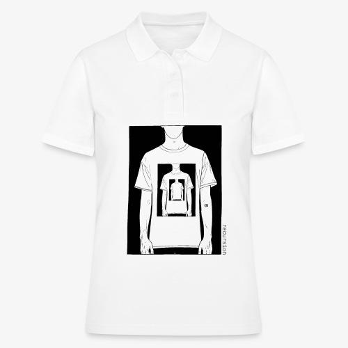 Recursion | Loop | Repeat | Optical illusion - Women's Polo Shirt