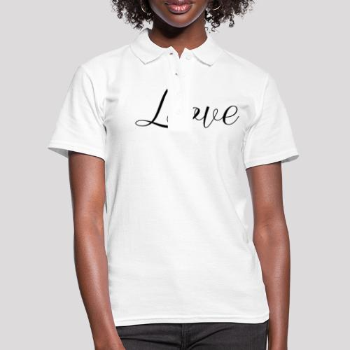 Love - Schiftzug - Frauen Polo Shirt