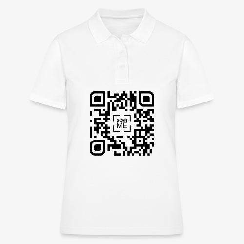 QR code (black) - Women's Polo Shirt