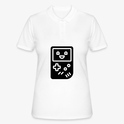 Smiling game console (black, inverted) - Women's Polo Shirt