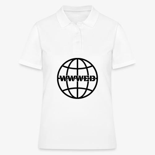 WWWeb (black) - Women's Polo Shirt