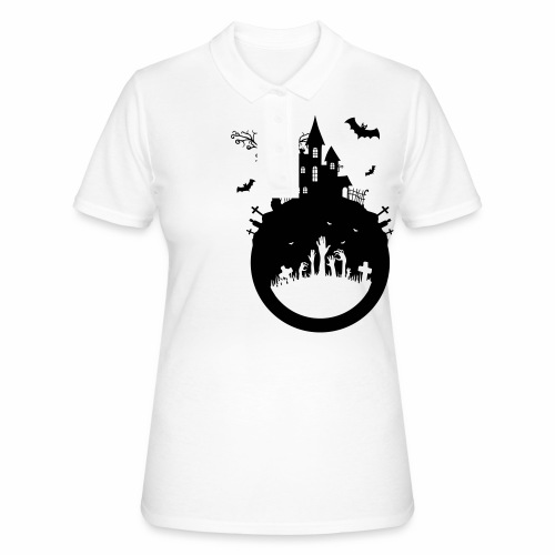 Halloween Design - Das Spukhaus - Frauen Polo Shirt