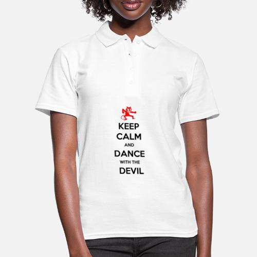 Keep Calm and Dance With the Devil - Women's Polo Shirt