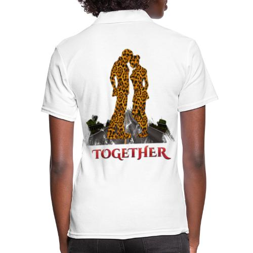 Together leopard - crocodile red color - Polo Femme