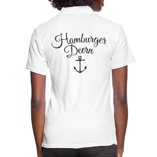 Hamburger Deern Anker Klassisch (Vintage Schwarz) - Frauen Polo Shirt