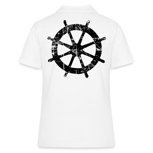 Steuer Steuerrad Segeln (Vintage/Schwarz) - Frauen Polo Shirt