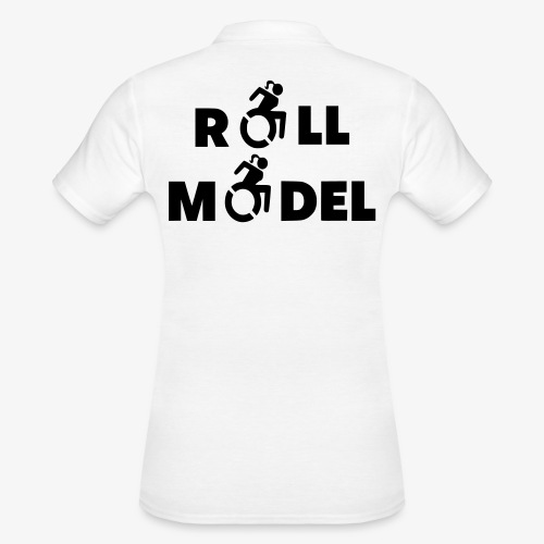 Dame in rolstoel is ook een roll model - Women's Polo Shirt