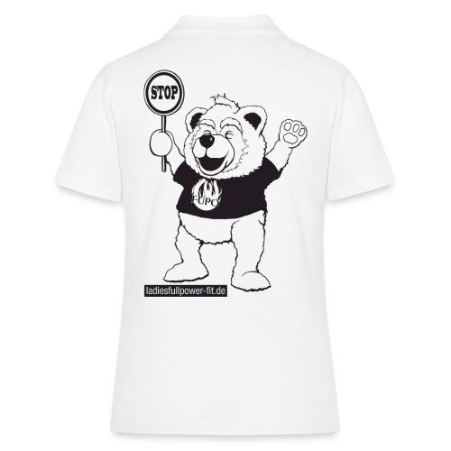 FUPO der Bär. Druckfarbe schwarz - Frauen Polo Shirt