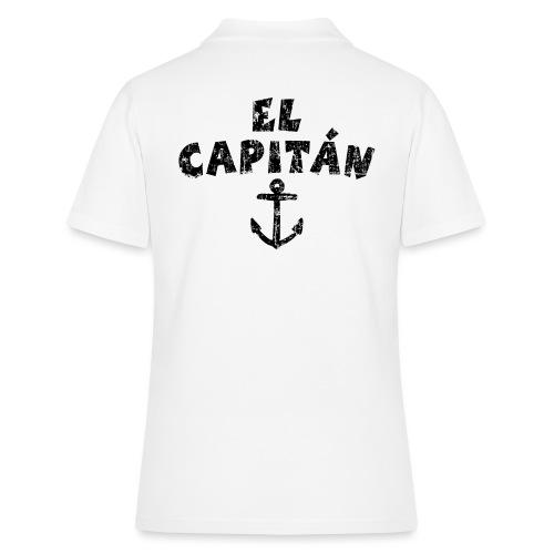 El Capitán Anker Kapitän Segeln Segel - Frauen Polo Shirt