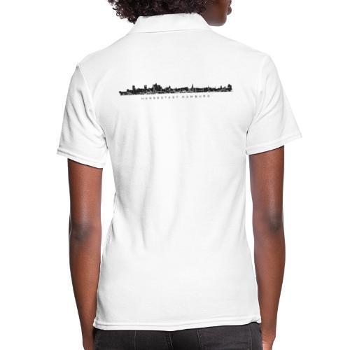Hamburg Skyline Vintage/Schwarz Hansestadt Hamburg - Frauen Polo Shirt
