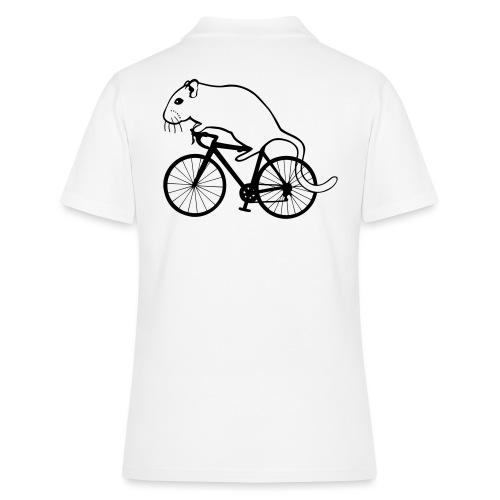 Rennmaus auf Rennrad - Frauen Polo Shirt