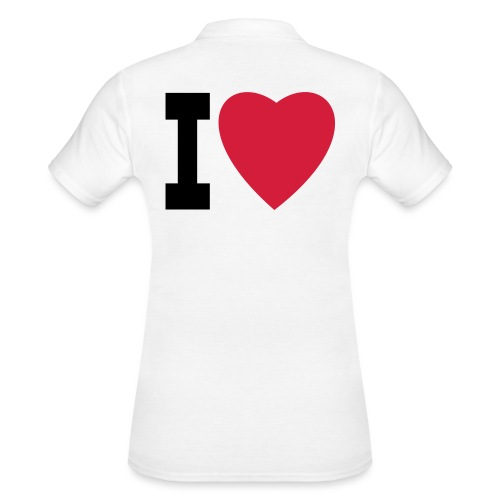 create your own I LOVE clothing and stuff - Women's Polo Shirt