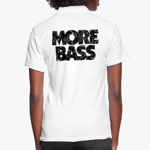 More Bass (Vintage/Schwarz) Bassist Bassisten - Frauen Polo Shirt