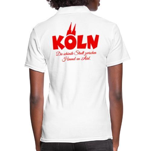 Köln schönste Stadt zwischen Himmel un Ääd (Rot) - Frauen Polo Shirt