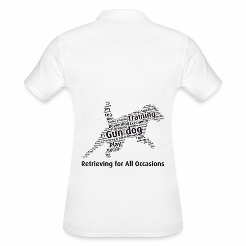 Retrieving for All Occasions wordcloud svart - Women's Polo Shirt