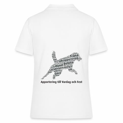 Apportering till vardag och fest wordcloud svart - Women's Polo Shirt