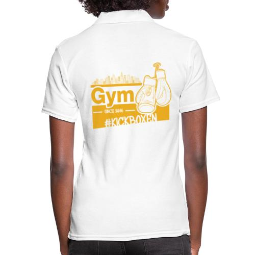 Gym Druckfarbe Orange - Frauen Polo Shirt