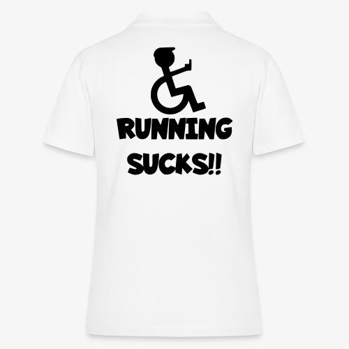 Rolstoel gebruikers haten rennen - Women's Polo Shirt