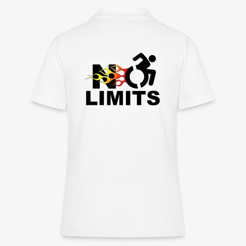Geen grenzen voor deze rolstoel gebruiker - Women's Polo Shirt