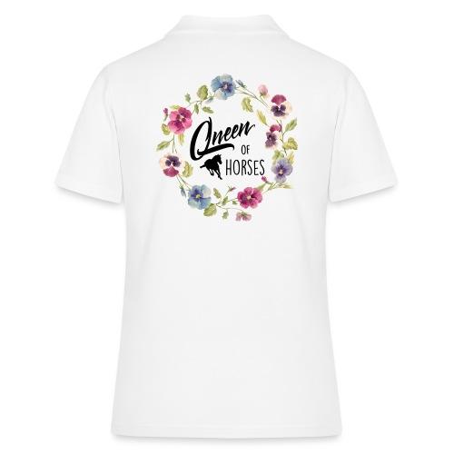 Vorschau: queen of horses - Frauen Polo Shirt