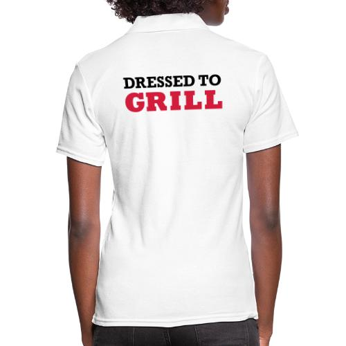 Dressed to grill op wit - Women's Polo Shirt