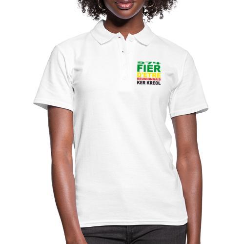 Logo fier d'etre kreol 974 ker kreol - Rastafari - Women's Polo Shirt