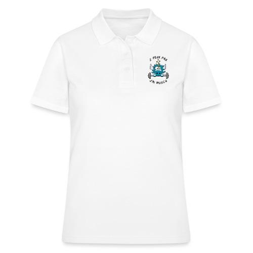 Licorne Bleu Je Peux pas, J'ai Musculation - Women's Polo Shirt