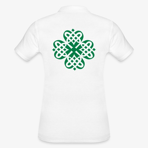 Shamrock Celtic knot decoration patjila - Women's Polo Shirt