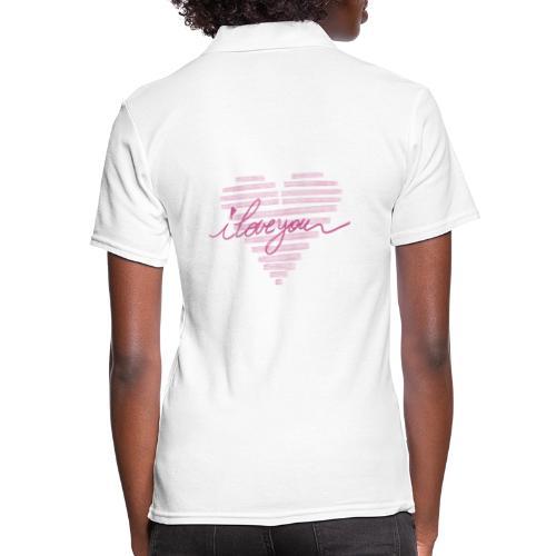 In kalk letters - Women's Polo Shirt