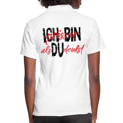 ICH BIN Weisheit groesser als Du denkst 1 - Frauen Polo Shirt