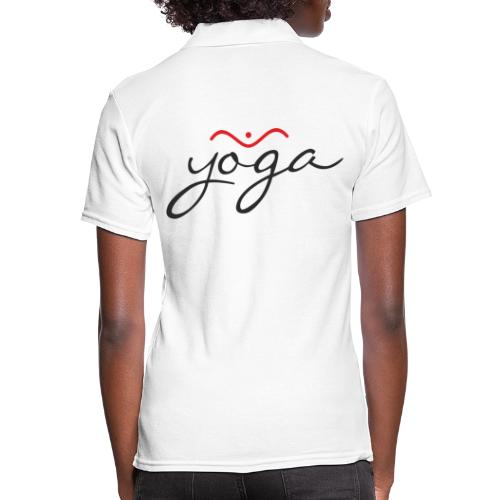 Yoga Balancing Typography And Emblem 1 - Frauen Polo Shirt