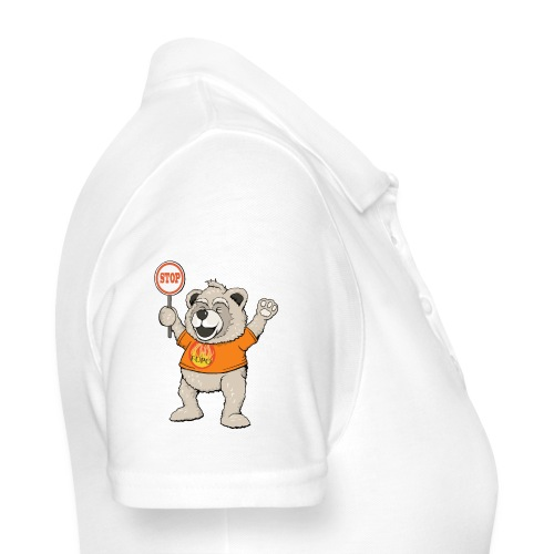FUPO der Bär. Druckfarbe bunt - Frauen Polo Shirt