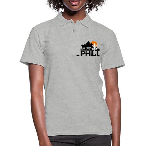 it goes uphill Mountain Outdoor Trekking Wandern - Frauen Polo Shirt