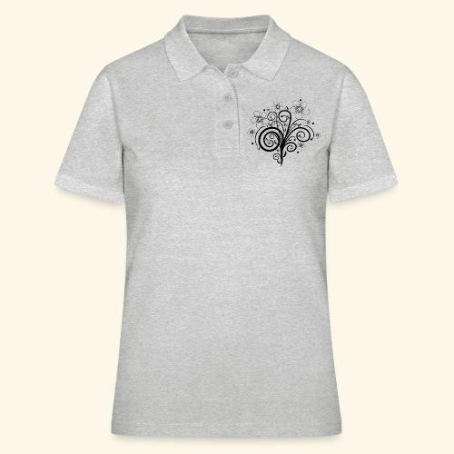 Blumenranke, Blumen, Blüten, floral, Ornamente - Frauen Polo Shirt