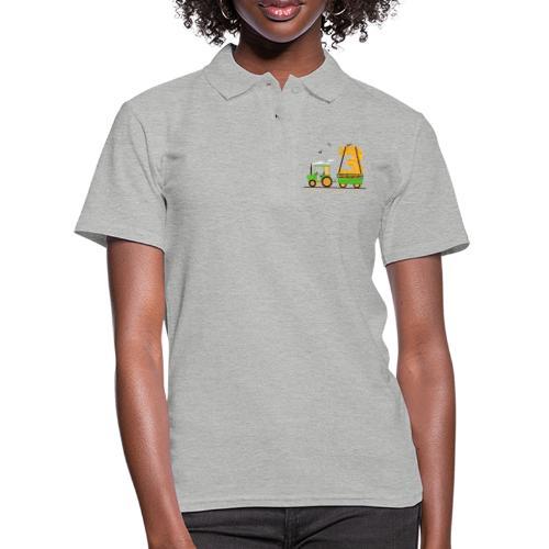 Traktor mit Anhänger 3. Geburtstag Geschenk Drei - Frauen Polo Shirt