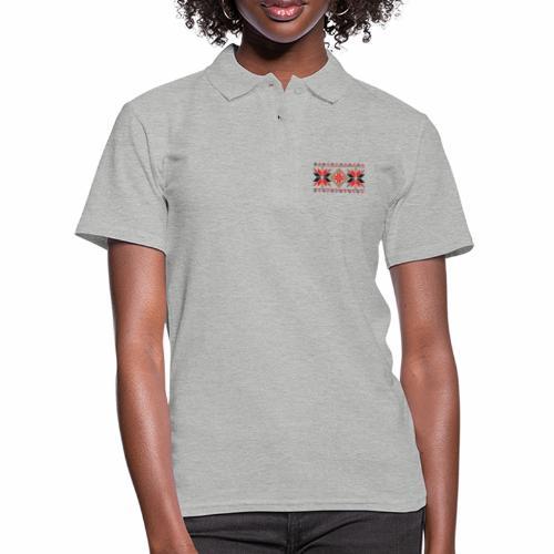 Ornament ludowy - Koszulka polo damska