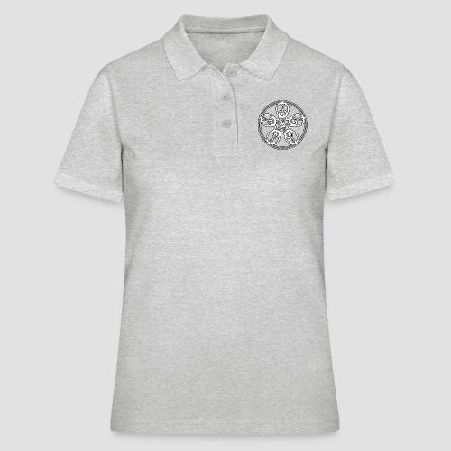 Treble Clef Mandala (white/black outline) - Women's Polo Shirt