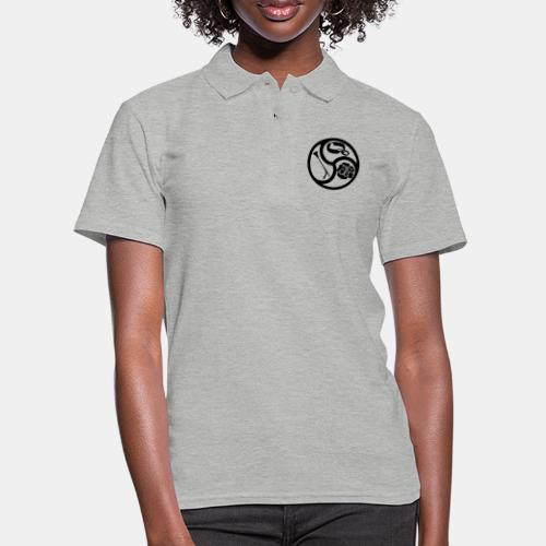 Triskele triskelion BDSM Emblem HiRes 1 color - Frauen Polo Shirt