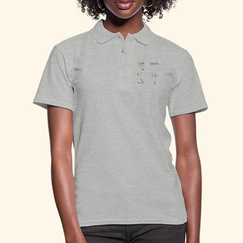 Krähe_warten - Frauen Polo Shirt